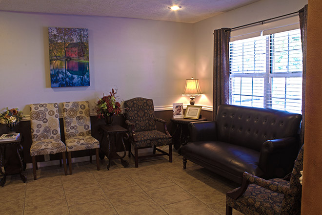 Patient waiting room at Olson Family Dental